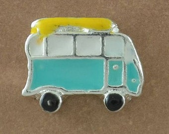 Bus Floating Charm, Bus Charm, Bus Memory Locket Charm, Bus Window Locket Charm