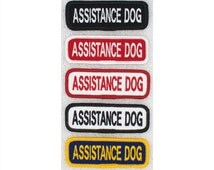 Assistance Dog Patch Size Small: 1x3 inch Danny & LuAnns Embroidery