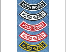 """Access Required Rocker Patch Size: 3.75""""W x 1.5""""H Designed to fit 3"""" Round Patch Danny & LuAnns Embroidery"""