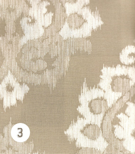 Home Decor Fabric Cotton By the Yard Damask Ikat