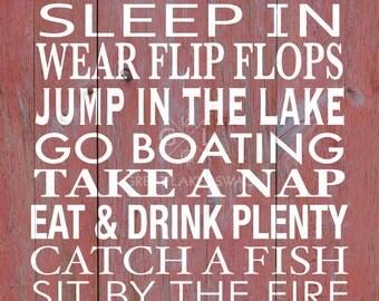 Downloadable Digital Print 'Lake Rules' 8 x 10