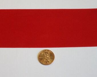 """2"""" 100% Silk Satin Ribbon, Red Christmas Ribbon"""