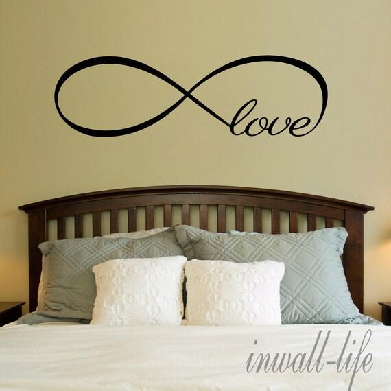 Amore infinito simbolo camera da letto parete decal di inwalllife