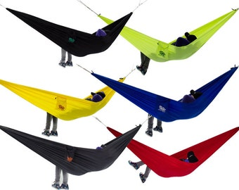 Highquality travel hammock ripstop parachute silk 0,5kg 400kg travel hammock traveller outdoor