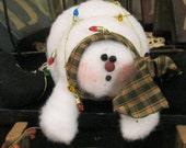 Snowman Shelf Sitter - Snowman Decoration - Holiday Decoration - Winter