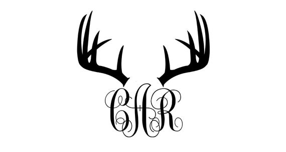 Items Similar To Deer Antler Monogram Deer Antler Decal