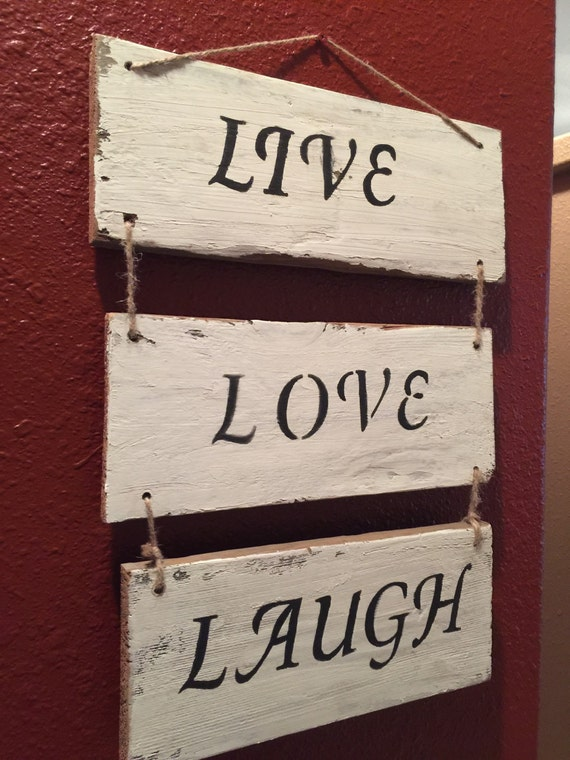 Live laugh love sign love sign reclaimed wood by for Love sign