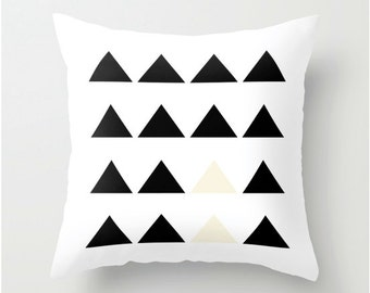 Decorative Pillow Cover, abstract Motif, Home decor, black and white Cushion cover, Decorative Pillow