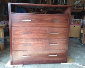 Four Drawer Dresser with Shelf