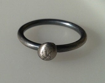 Sterling Silver ring small silver Pebble Stacking Ring