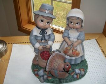 ceramic thanksgiving pilgrim,Turkey