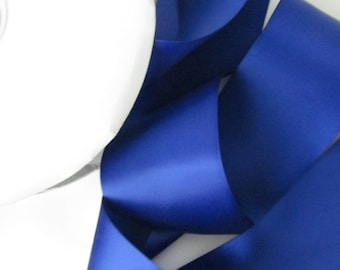 Cobalt Double Face Satin Ribbon  / Ribbon by the yard / Cobalt Blue
