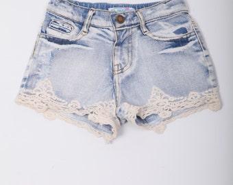 SALE!!Girls Denim Shorts, Denim Short, Girls Summer Denim Short.