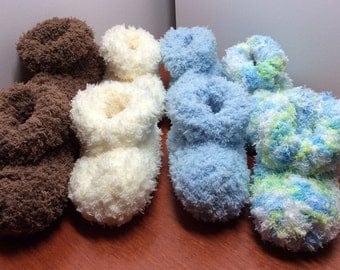 Ultra Soft Hand Knit Baby Booties