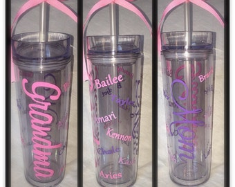 Personalized Mother or Grandma Tumbler\\ mothers day gift \\ grandchildren tumbler