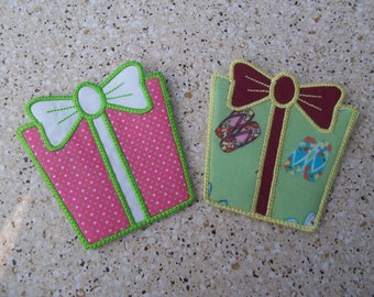 Gift Card Holder- Cotton Fabric with Felt Pocket