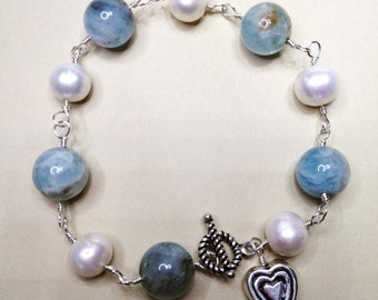 Sea and Moon bracelet