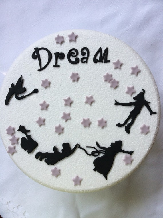 peter pan wedding cake topper items similar to silhouette pan inspired 18308