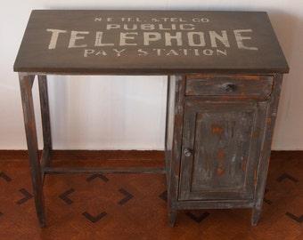 Vintage Telephone Sign - Vintage Desk / desk Vintage