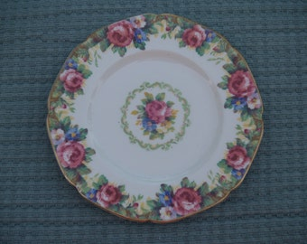 Paragon Salad Bread Plate Tapestry Rose Pattern