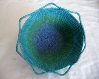 Hand Dyed Rope Coil Bowl