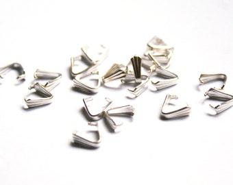 Silver metal bail . Bulk of 20 pces