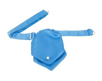Royal Blue Satin Banded Ascot Tie