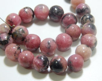 Rodonite Smooth Beads Round Shape Size- 8.5 mm Approx 100% Natural Gemstone Top quality.