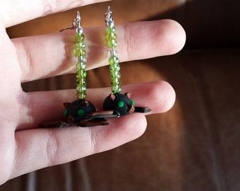 Bat Earrings--Customizable!