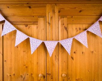 Handmade bunting, Long bunting, Garden party bunting, Birthday party decoration, Wedding decoration