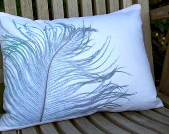 Photographic Feather Print Oblong 40cm x 30cm Cushion