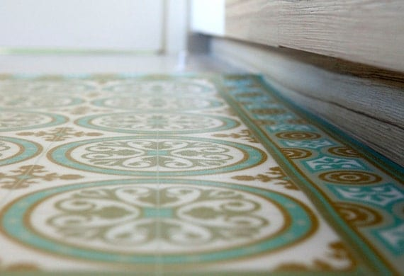 Livraison gratuite tiles motif tapis de vinyle linol um pvc Tapis pvc cuisine