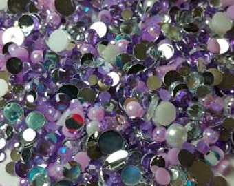 Rhinestone Pearl Mix - Lovely Lilac