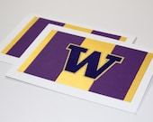 University of Washington Huskies Purple and Gold Greeting Cards | Buy Any 4 Cards, Get 1 FREE!