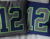 Seattle Seahawks 12 pillow - Gray & Blue,  Pillow cover, pillow sham, Seahawks womens, Seahawks jersey, 12s, 12
