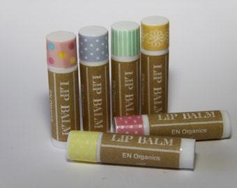 Organic Flavoured Lip Balms