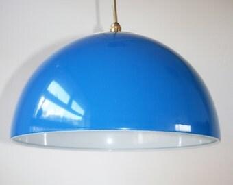 Electric Blue Hanging Ceiling Pendant Vintage Light Kitchen Light