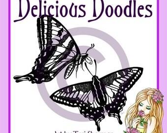 Digital Stamps - Pair of Butterflies 2