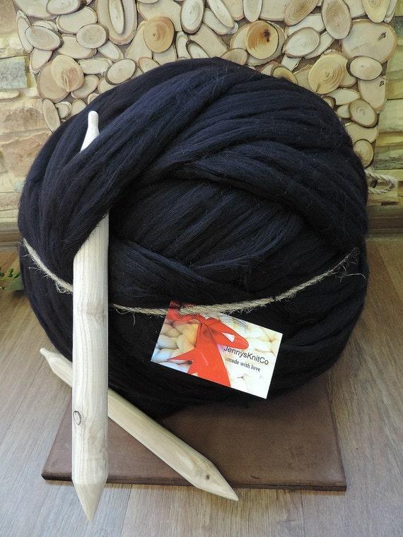 merino wool chunky yarn super chunky yarn giant by jennysknitco. Black Bedroom Furniture Sets. Home Design Ideas