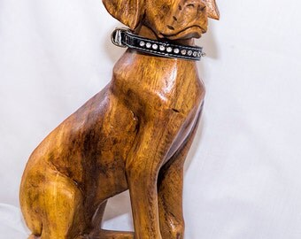Wood Dog - Hand carved