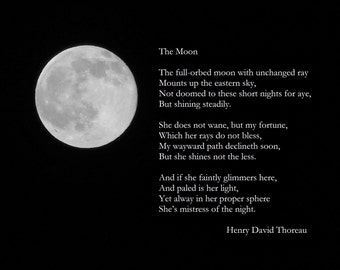 FULL-ORBED MOON--Lunar Photography, Full Moon, Picture of Moon, Henry David Thoreau Poem, Picture of Full Moon, Astronomy, Moon Photograph
