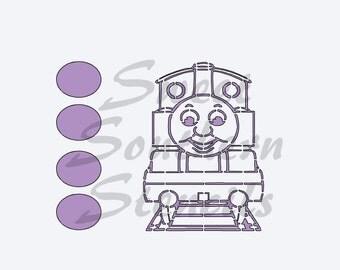 PYO Train Cookie Stencil