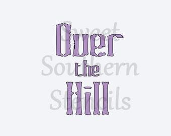 Over the Hill Stencil