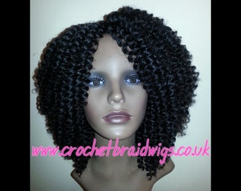 Items similar to Custom Crochet Braid Wig on Etsy