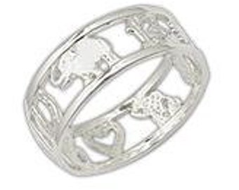Sterling Silver Good Luck Elephant Ring, Good Luck Ring, Lucky Elephant Ring, Silver Good Luck Ring, Gift for Her,AnilloElefante, Good Luck