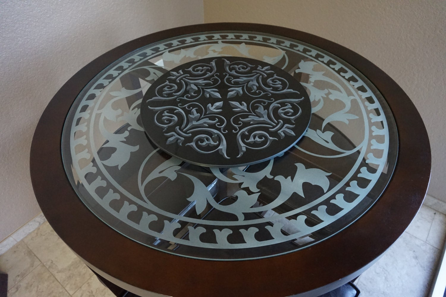 Custom Turn Table Lazy Susan Kitchen Decor 18