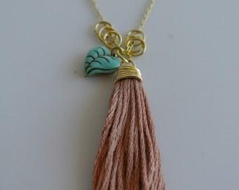 Earthy tassel necklace