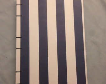 Navy and White Stripe Sketchbook/ Journal