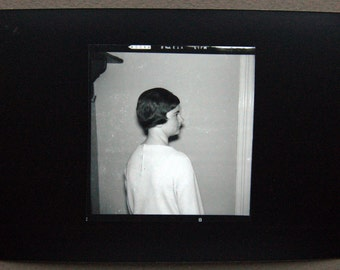 Unknown Teenager contact print medium format photography black and white found negative fine art wall decor girl woman prints vintage