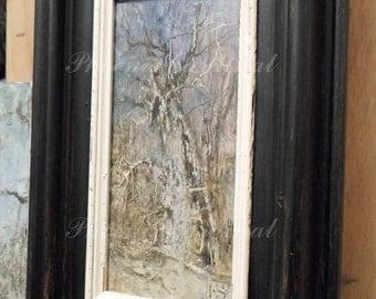 Painting Oil Tree Black Style Art
